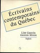 Ecrivains contemporains du Québec