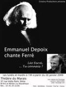 Emmanuel Depoix chante Ferré