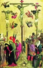Louvre-Lens, Crucifixion, de Duccio di Buoninsegna, tempera sur bois, 1315-1330.