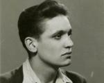 """Portrait de Maurice Pialat jeune, exposé à la Cinémathèque française dans le cadre de l'exposition """"Pialat, peintre et cinéaste"""" (jusqu'au 7 juillet 2013)."""