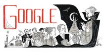 Google célèbre Bram Stoker, l'auteur de Dracula