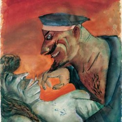 Otto Dix - 'Marin et fille' - 1926