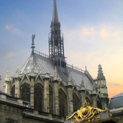 Vue extérieure de la Sainte-Chapelle