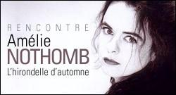INTERVIEW D'AMELIE NOTHOMB
