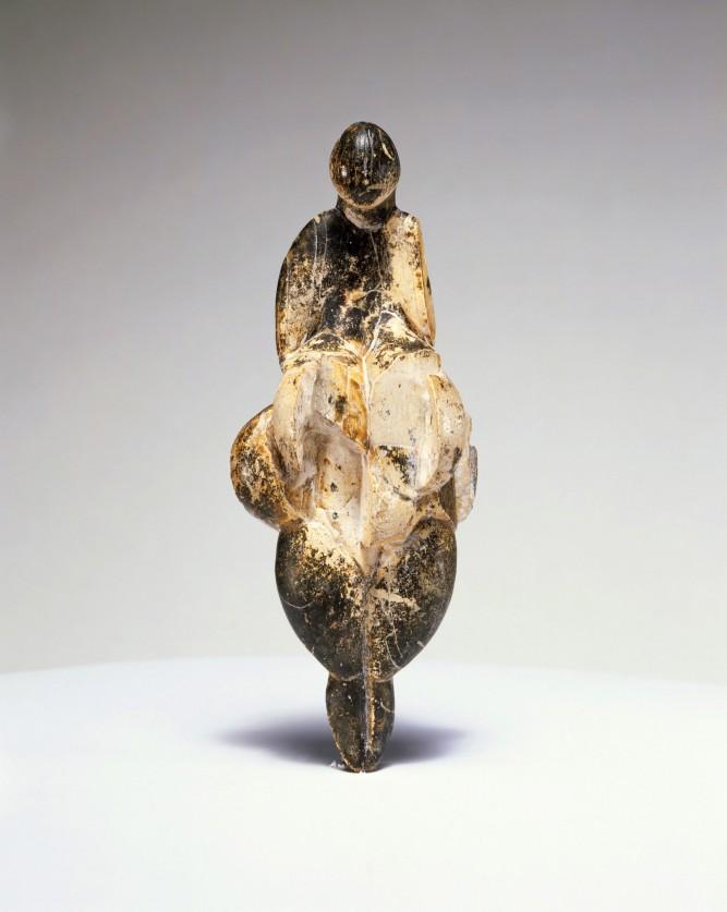 Venus de Lespugue, paléolithique superieur, ivoire de mammouth France - Musée de l'homme