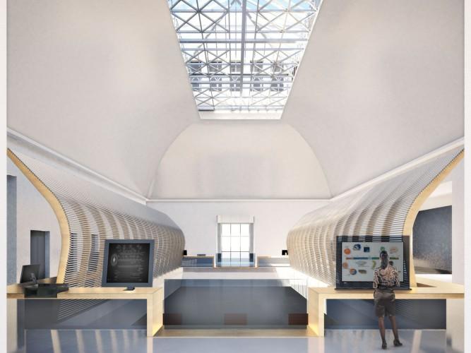 Musée de l'homme, vue 3D, balcon des sciences