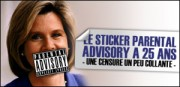 LE STICKER &quot;PARENTAL ADVISORY&quot; A 25 ANS