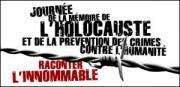 JOURNÉE DE LA MÉMOIRE DE L'HOLOCAUSTE